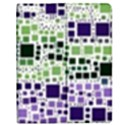 Block On Block, Purple Apple iPad 3/4 Flip Case View1