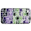 Block On Block, Purple Apple iPhone 4/4S Hardshell Case (PC+Silicone) View1