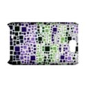 Block On Block, Purple Samsung Galaxy Note 2 Hardshell Case (PC+Silicone) View1