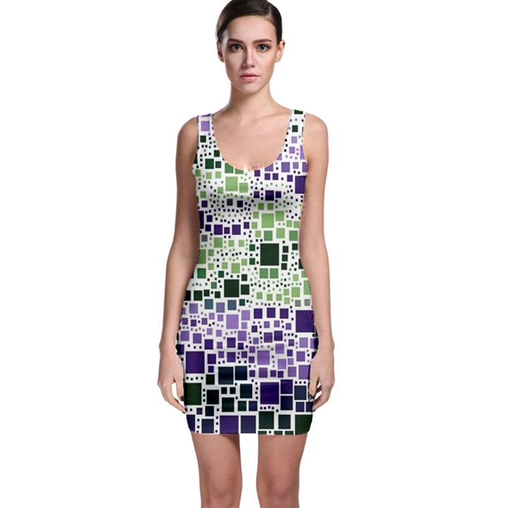 Block On Block, Purple Sleeveless Bodycon Dress