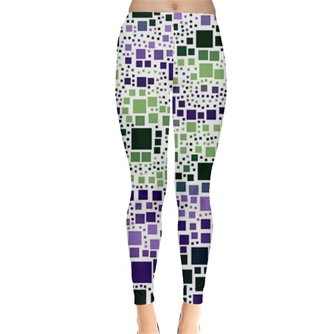 Block On Block, Purple Leggings