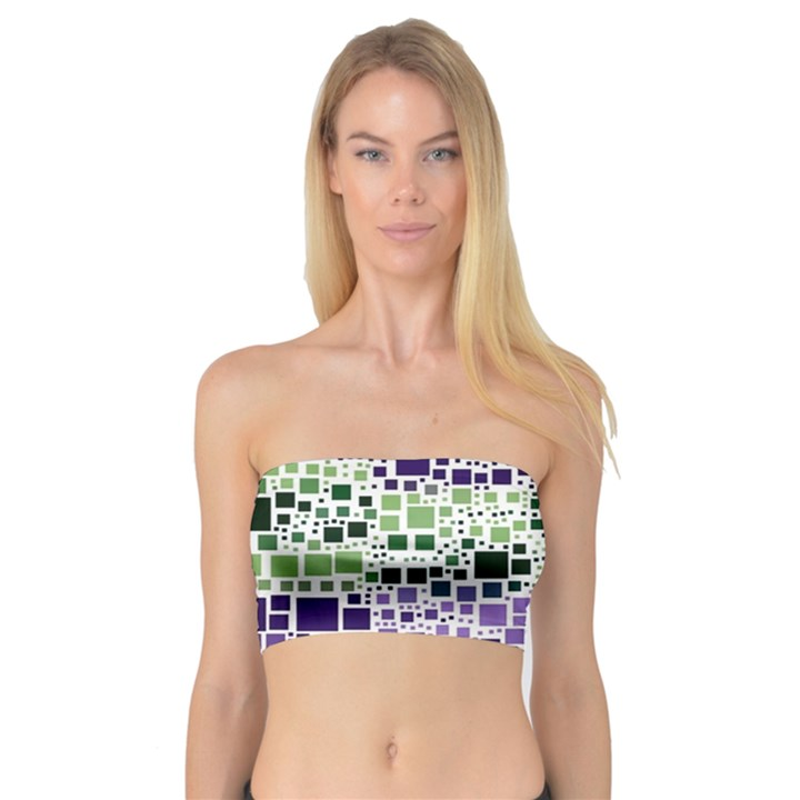Block On Block, Purple Bandeau Top