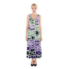 Block On Block, Purple Sleeveless Maxi Dress