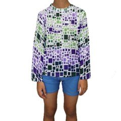 Block On Block, Purple Kids  Long Sleeve Swimwear