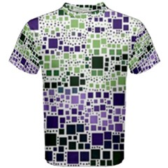 Block On Block, Purple Men s Cotton Tee