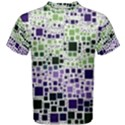 Block On Block, Purple Men s Cotton Tee View1
