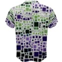 Block On Block, Purple Men s Cotton Tee View2