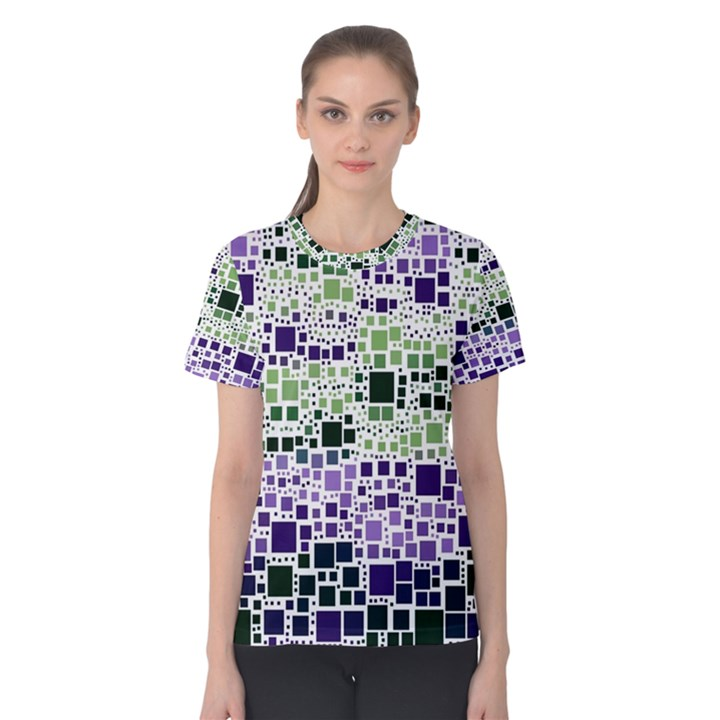 Block On Block, Purple Women s Cotton Tee