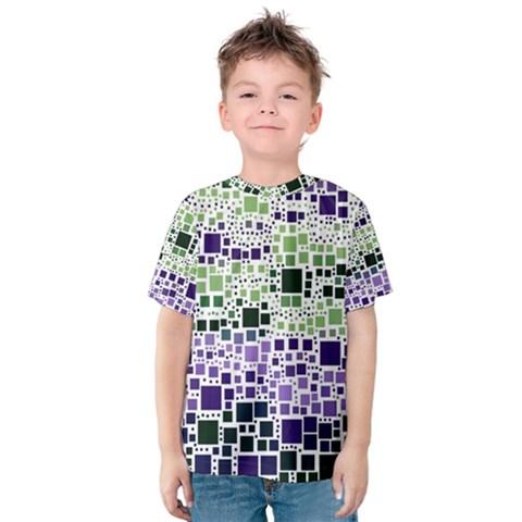 Block On Block, Purple Kids  Cotton Tee