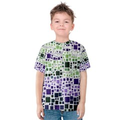 Block On Block, Purple Kids  Cotton Tee