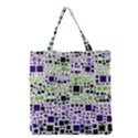 Block On Block, Purple Grocery Tote Bag View1