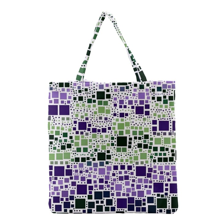 Block On Block, Purple Grocery Tote Bag