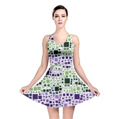 Block On Block, Purple Reversible Skater Dress