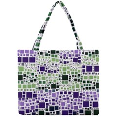 Block On Block, Purple Mini Tote Bag