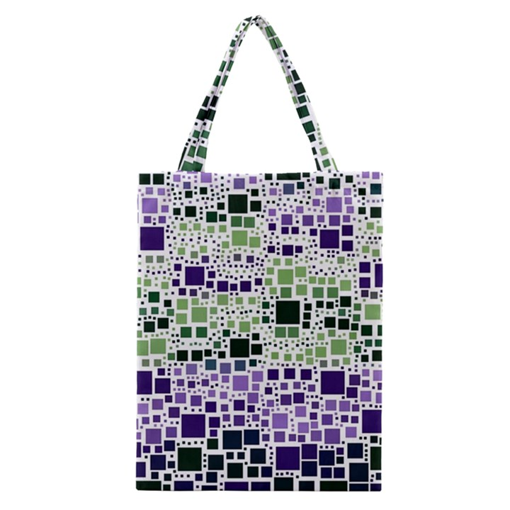 Block On Block, Purple Classic Tote Bag