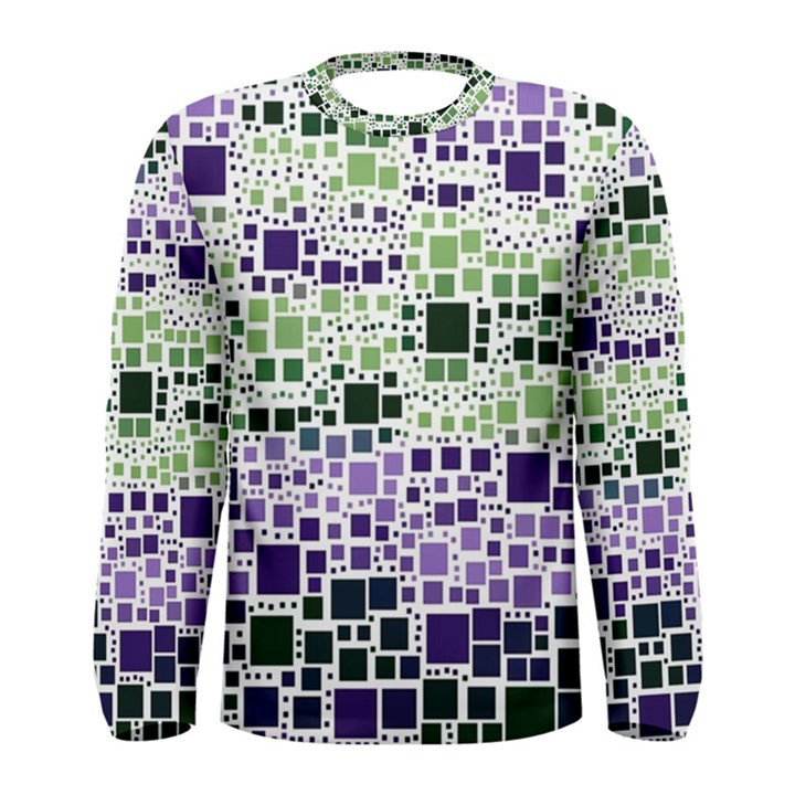 Block On Block, Purple Men s Long Sleeve Tee