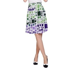 Block On Block, Purple A-Line Skirt