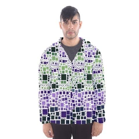 Block On Block, Purple Hooded Wind Breaker (Men)