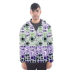Block On Block, Purple Hooded Wind Breaker (Men)