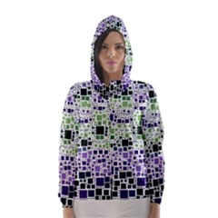 Block On Block, Purple Hooded Wind Breaker (women)