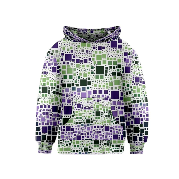 Block On Block, Purple Kids  Pullover Hoodie