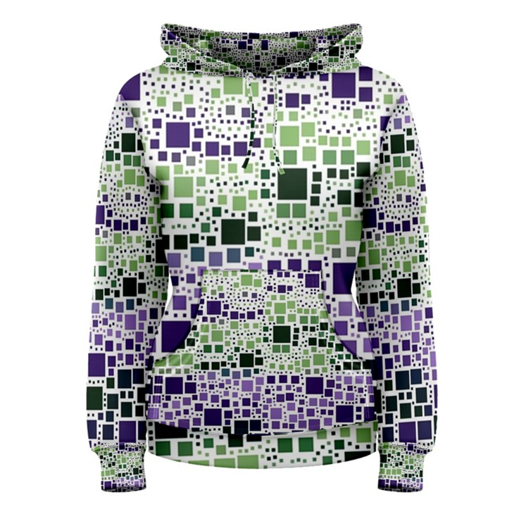 Block On Block, Purple Women s Pullover Hoodie