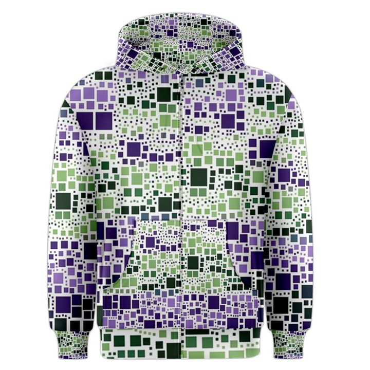 Block On Block, Purple Men s Zipper Hoodie