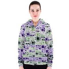 Block On Block, Purple Women s Zipper Hoodie