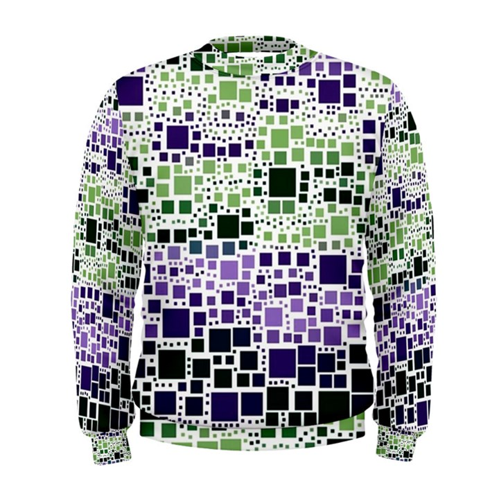 Block On Block, Purple Men s Sweatshirt