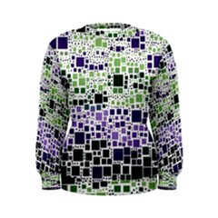 Block On Block, Purple Women s Sweatshirt