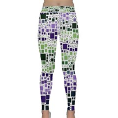 Block On Block, Purple Yoga Leggings