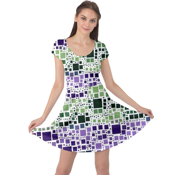 Block On Block, Purple Cap Sleeve Dresses