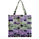 Block On Block, Purple Zipper Grocery Tote Bag View1