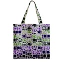 Block On Block, Purple Zipper Grocery Tote Bag View2