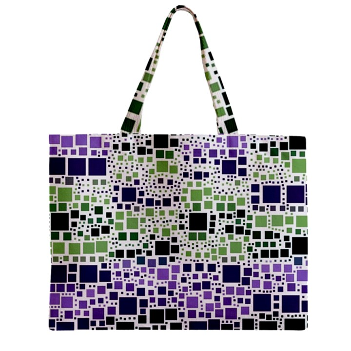 Block On Block, Purple Zipper Mini Tote Bag