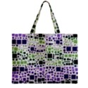 Block On Block, Purple Zipper Mini Tote Bag View2