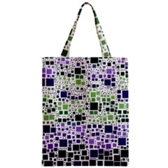 Block On Block, Purple Zipper Classic Tote Bag