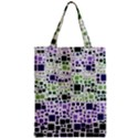 Block On Block, Purple Zipper Classic Tote Bag View1