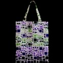 Block On Block, Purple Zipper Classic Tote Bag View2