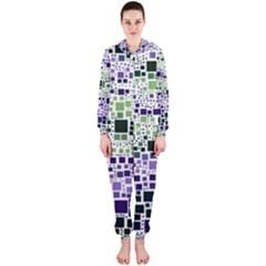 Block On Block, Purple Hooded Jumpsuit (ladies)