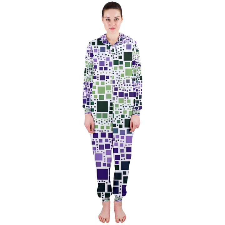 Block On Block, Purple Hooded Jumpsuit (Ladies)