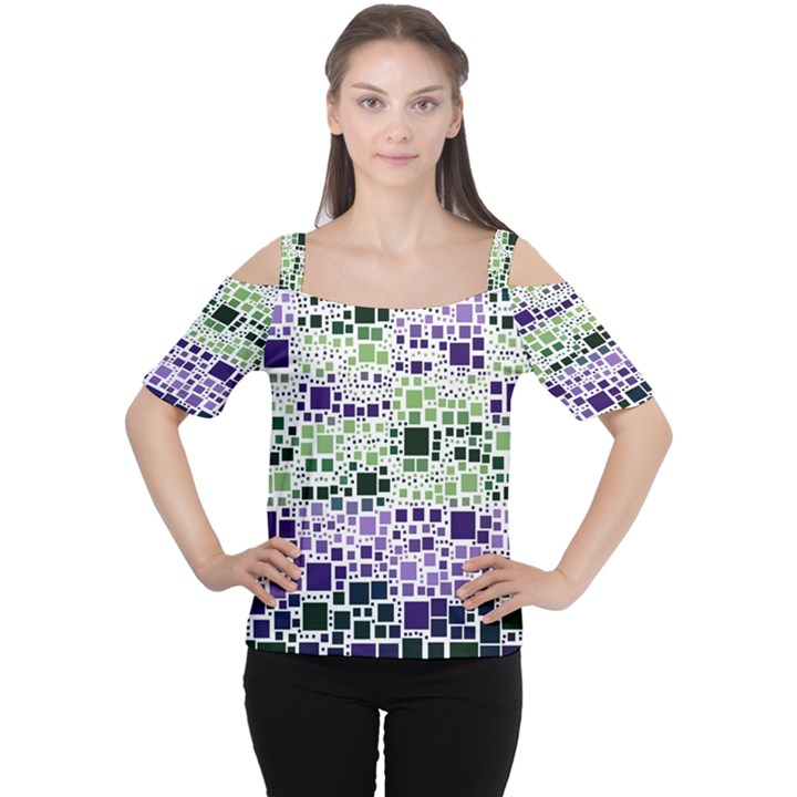 Block On Block, Purple Women s Cutout Shoulder Tee
