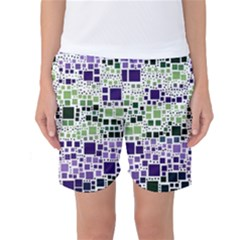 Block On Block, Purple Women s Basketball Shorts