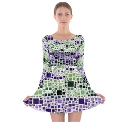 Block On Block, Purple Long Sleeve Skater Dress