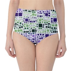 Block On Block, Purple High Waist Bikini Bottoms