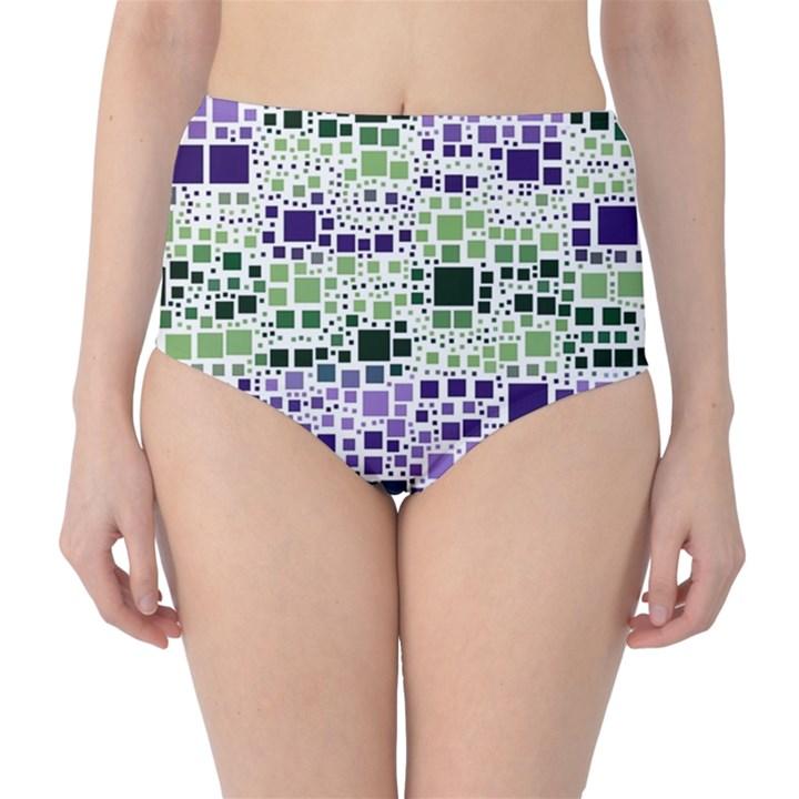 Block On Block, Purple High-Waist Bikini Bottoms