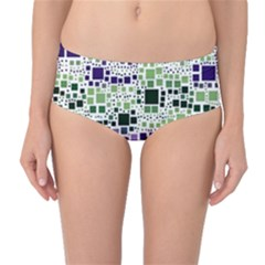 Block On Block, Purple Mid-Waist Bikini Bottoms