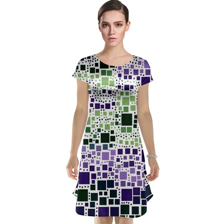 Block On Block, Purple Cap Sleeve Nightdress