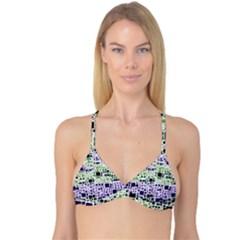 Block On Block, Purple Reversible Tri Bikini Top