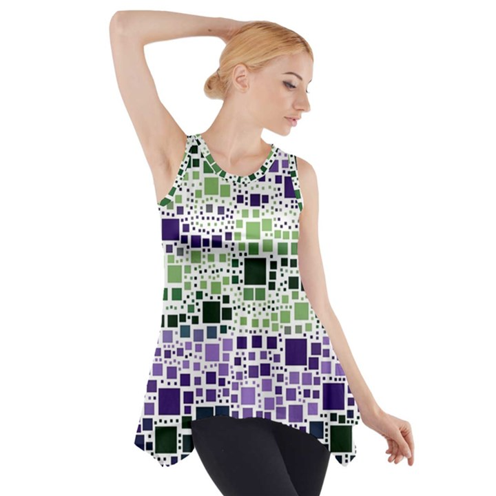 Block On Block, Purple Side Drop Tank Tunic